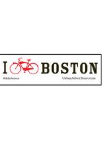 """I """"Bike"""" Boston Sticker"""
