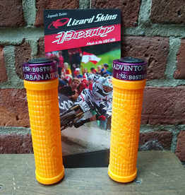 Grips - Lizard Skins Peaty Tangerine with UA Lockrings