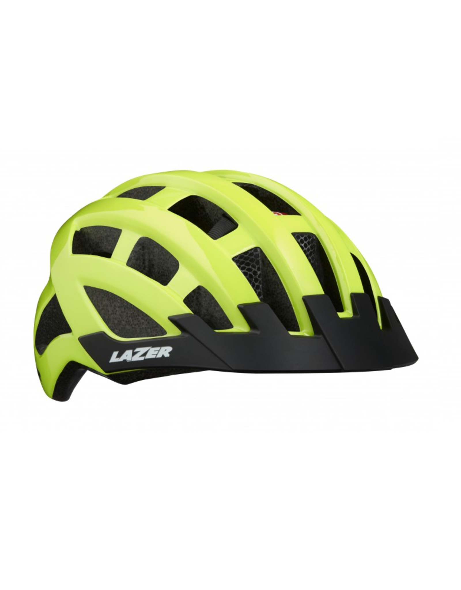 Lazer Helmet - Lazer Compact DLX Mips Flash Yellow w/ Light, One-size