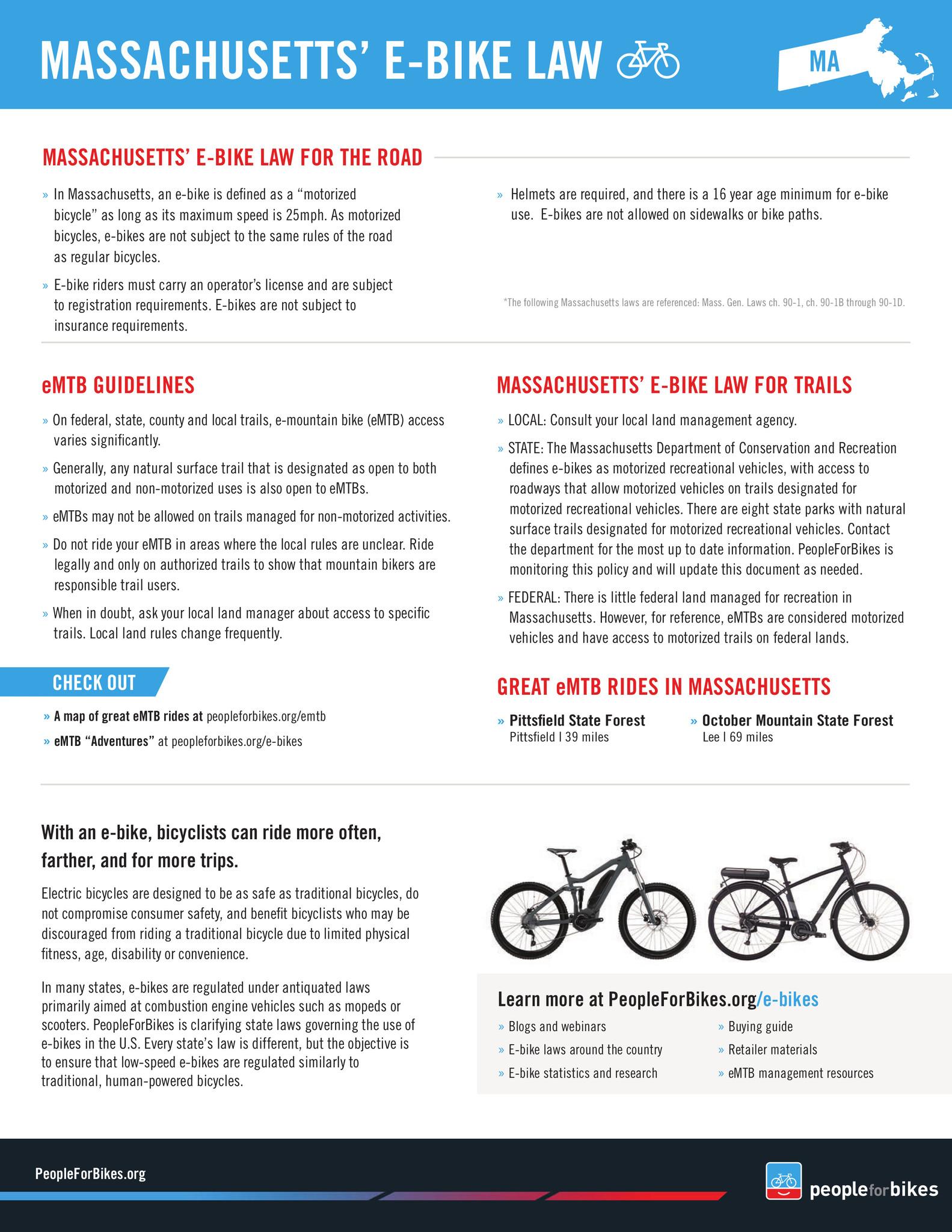 E-Bike MA Laws