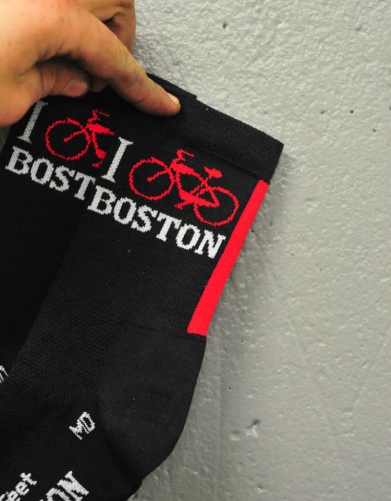 Sock Guy Socks - DeFeet I Bike Boston (Wool)
