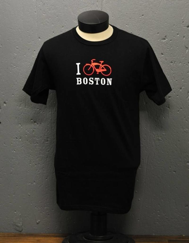 T-shirt - I Bike Boston - Mens