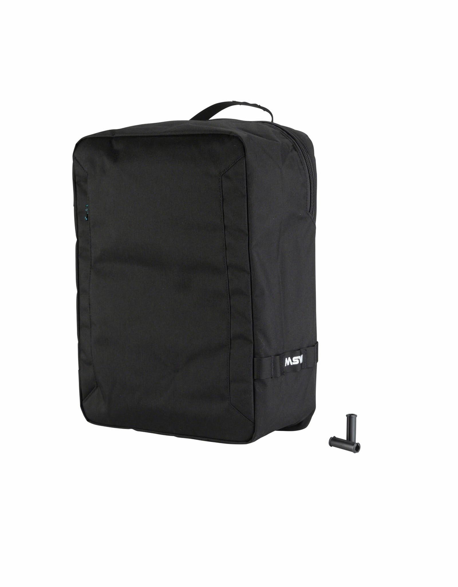 MSW Blacktop Pannier Bag Black Single