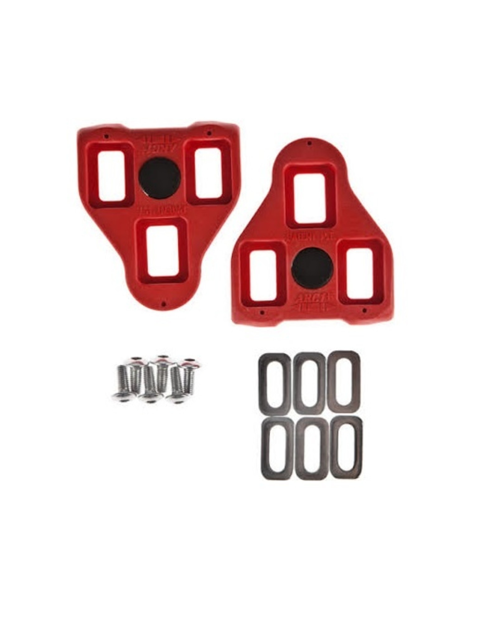 Cleats - Exustar Look Delta Style Red, 9 Degree Float (For Peloton)