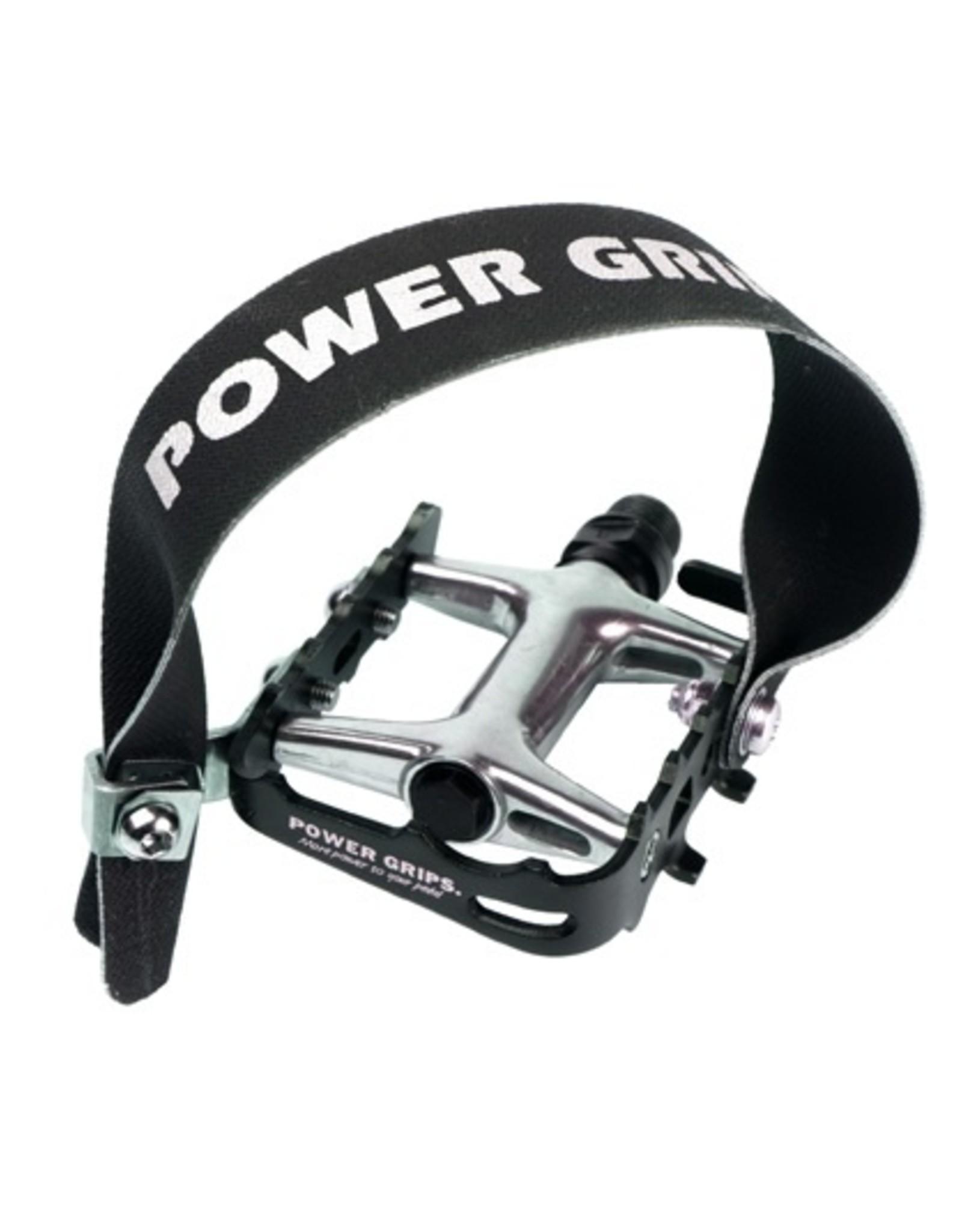 "Pedal - Power Grips High, Aluminum, 9/16"" Black"