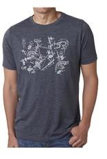 SFC Casual Cycling Clothing T Shirt - SFC Exploded Bike