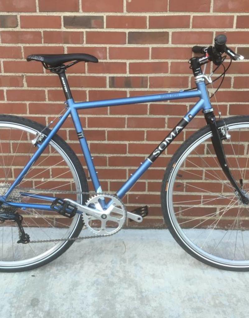 Soma Soma Double Cross GunMetal Blue 50cm Custom Bicycle