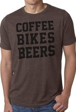SFC Casual Cycling Clothing T Shirt - Coffee Bikes Beers