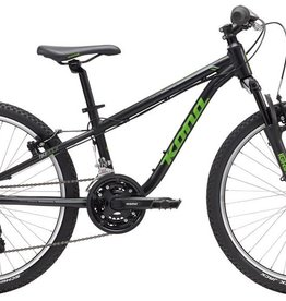 "KONA Kona Hula 2017 24"" Black/Green Bicycle"