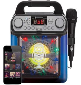 Singing Machine Groove Cube Mini Karaoke Machine- Black