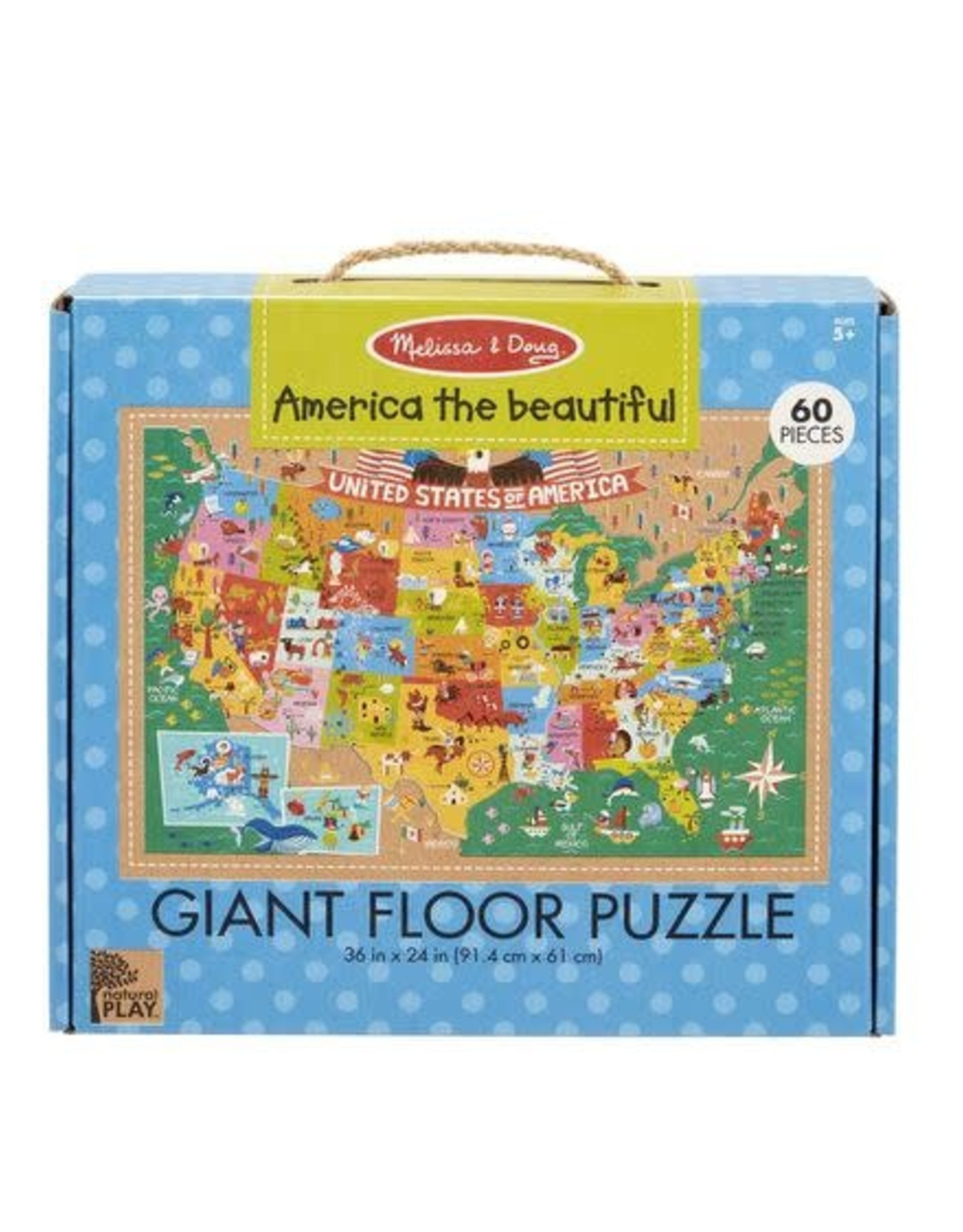 NP Giant Floor Puzzle - America the Beautiful