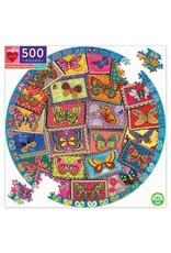 Vintage Butterflies 500pc Round Puzzle