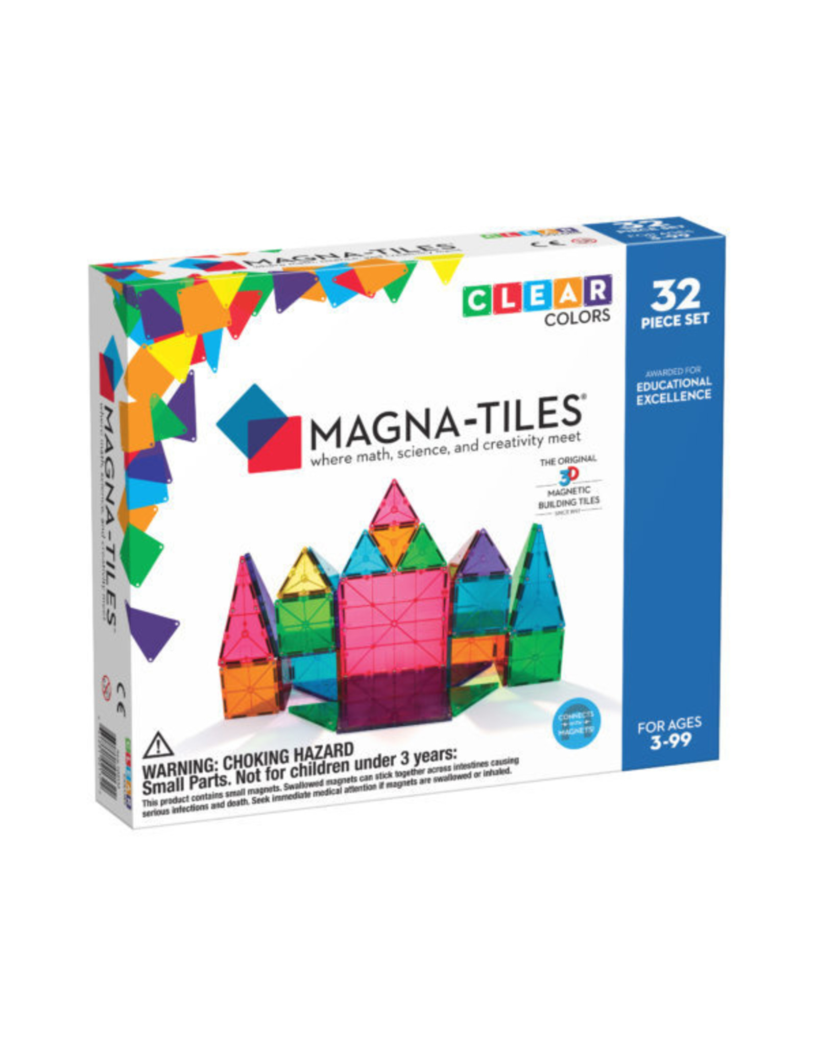 MagnaTiles Clear Colors 32 pc
