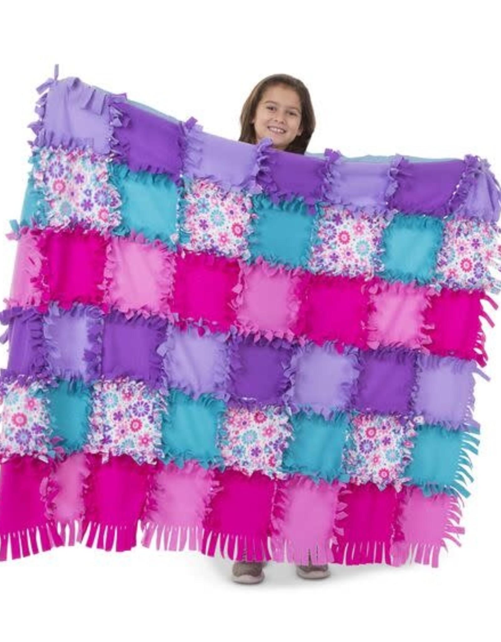 Melissa & Doug Created by Me - Flower Fleece Quilt