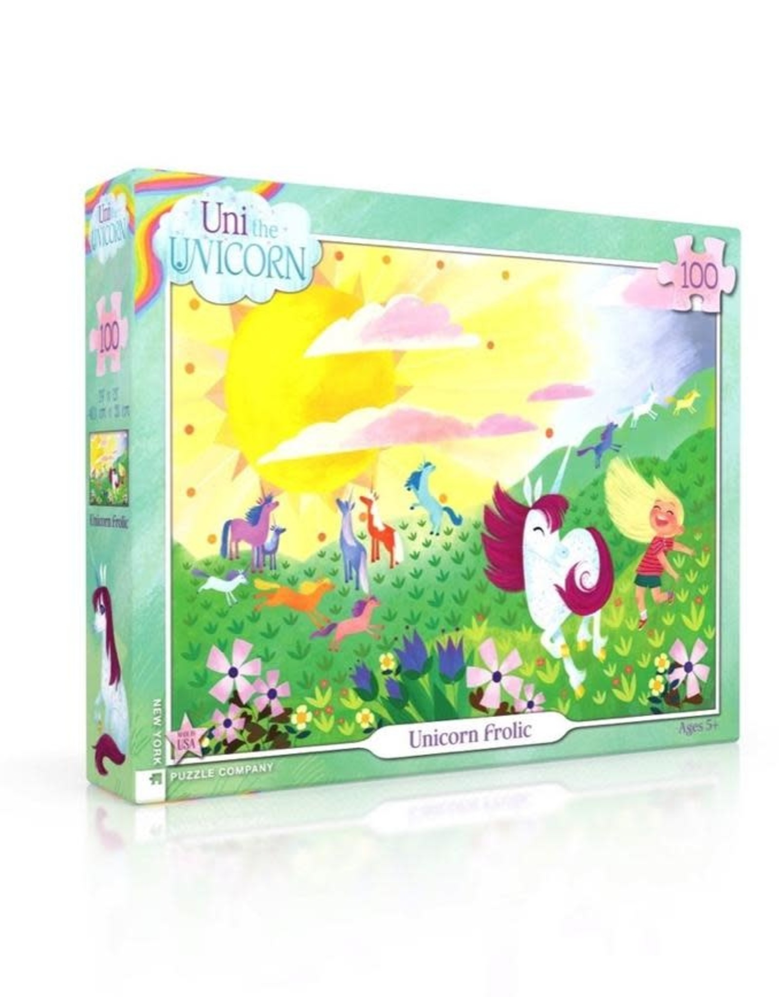 Unicorn Frolic 100 piece puzzle