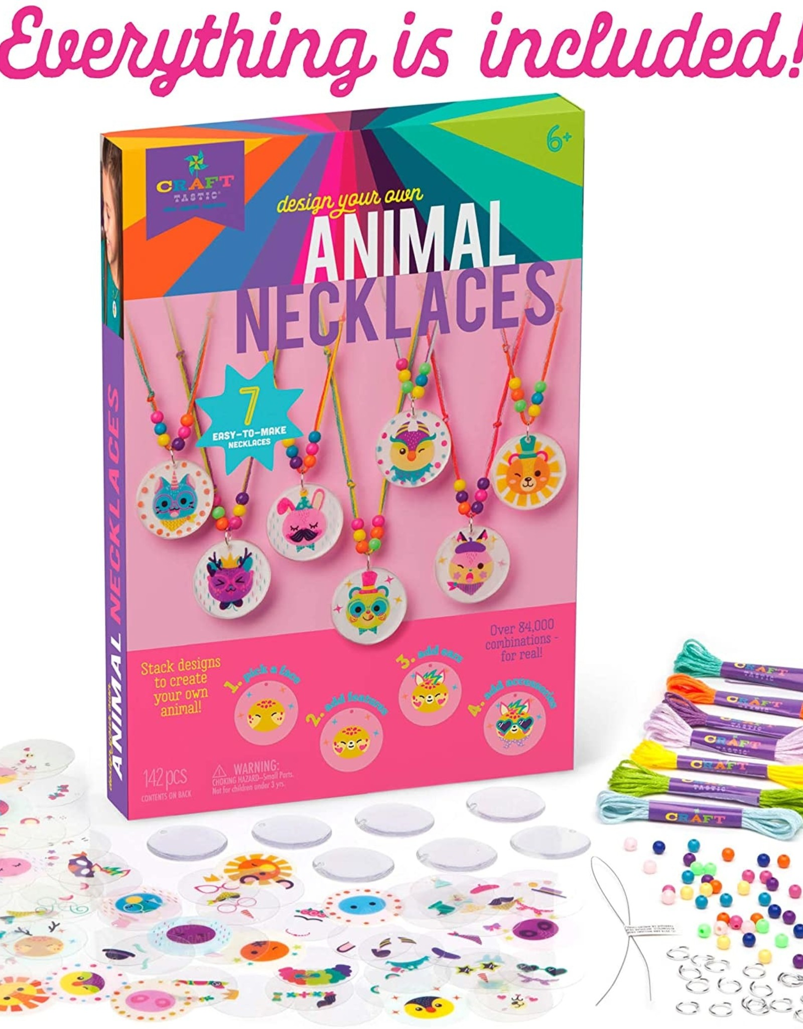 Craft-tastic Layered Animal Necklaces