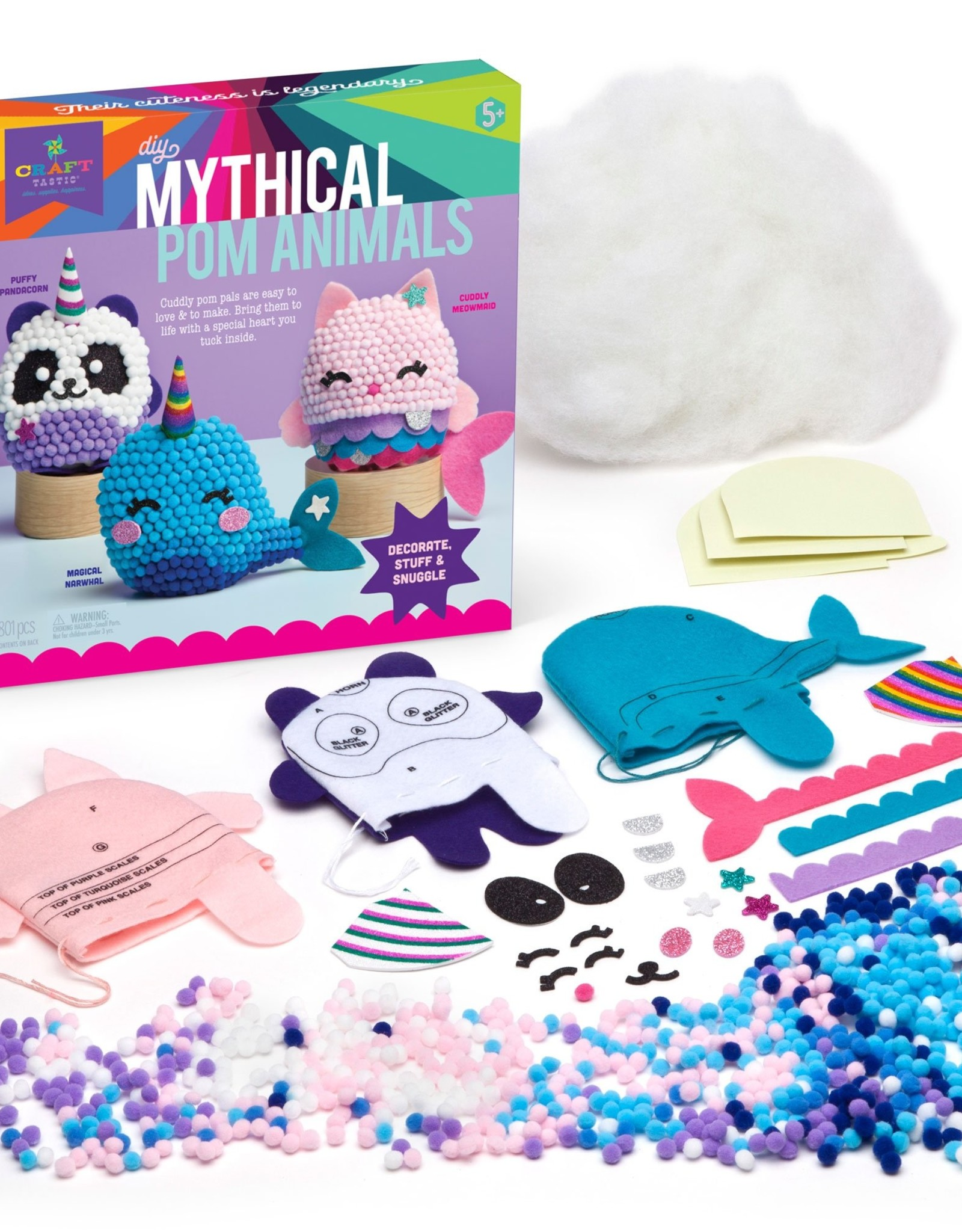 Craft-tastic Mythical Pom Animals