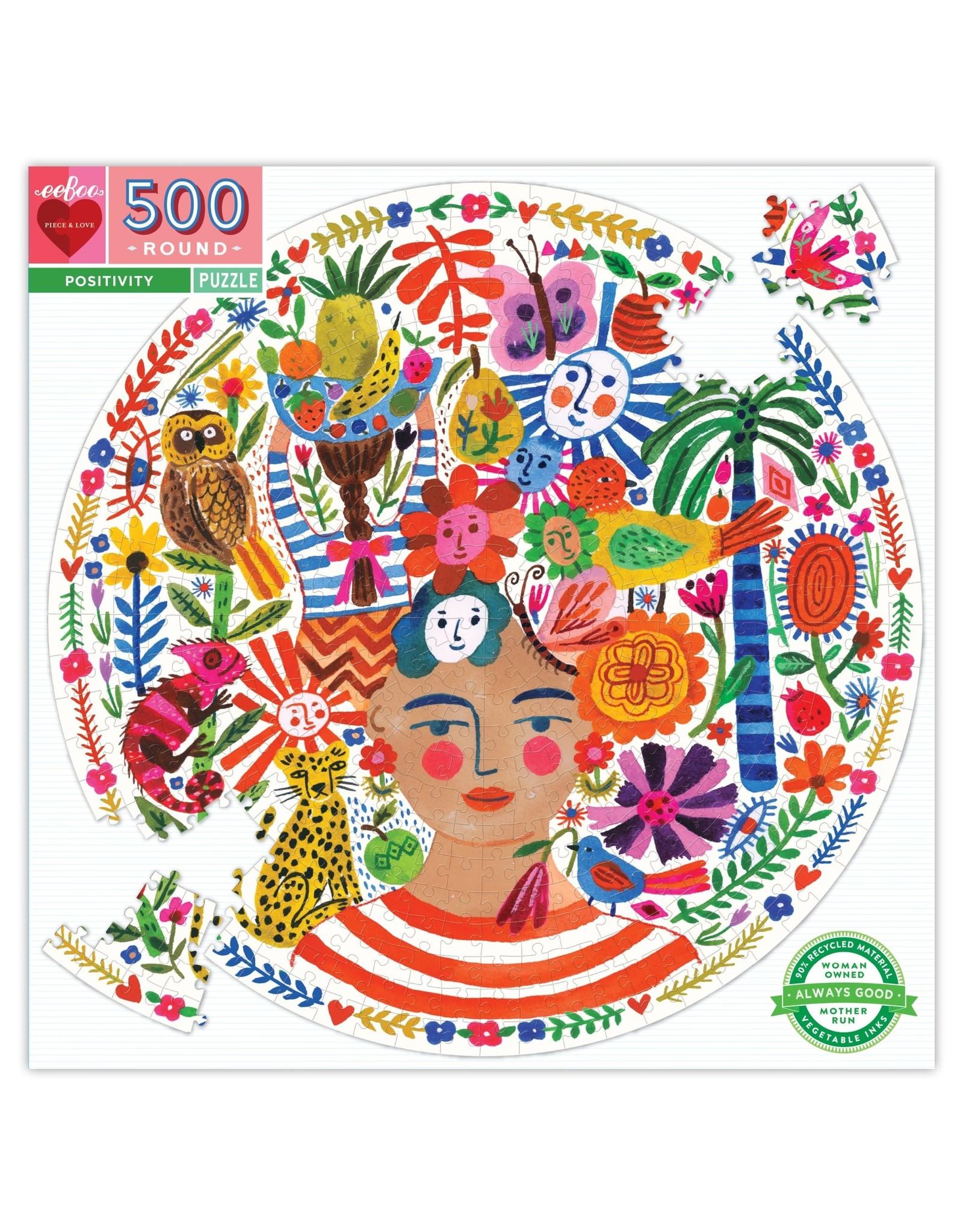 Positivity 500 Pc Round Puzzle