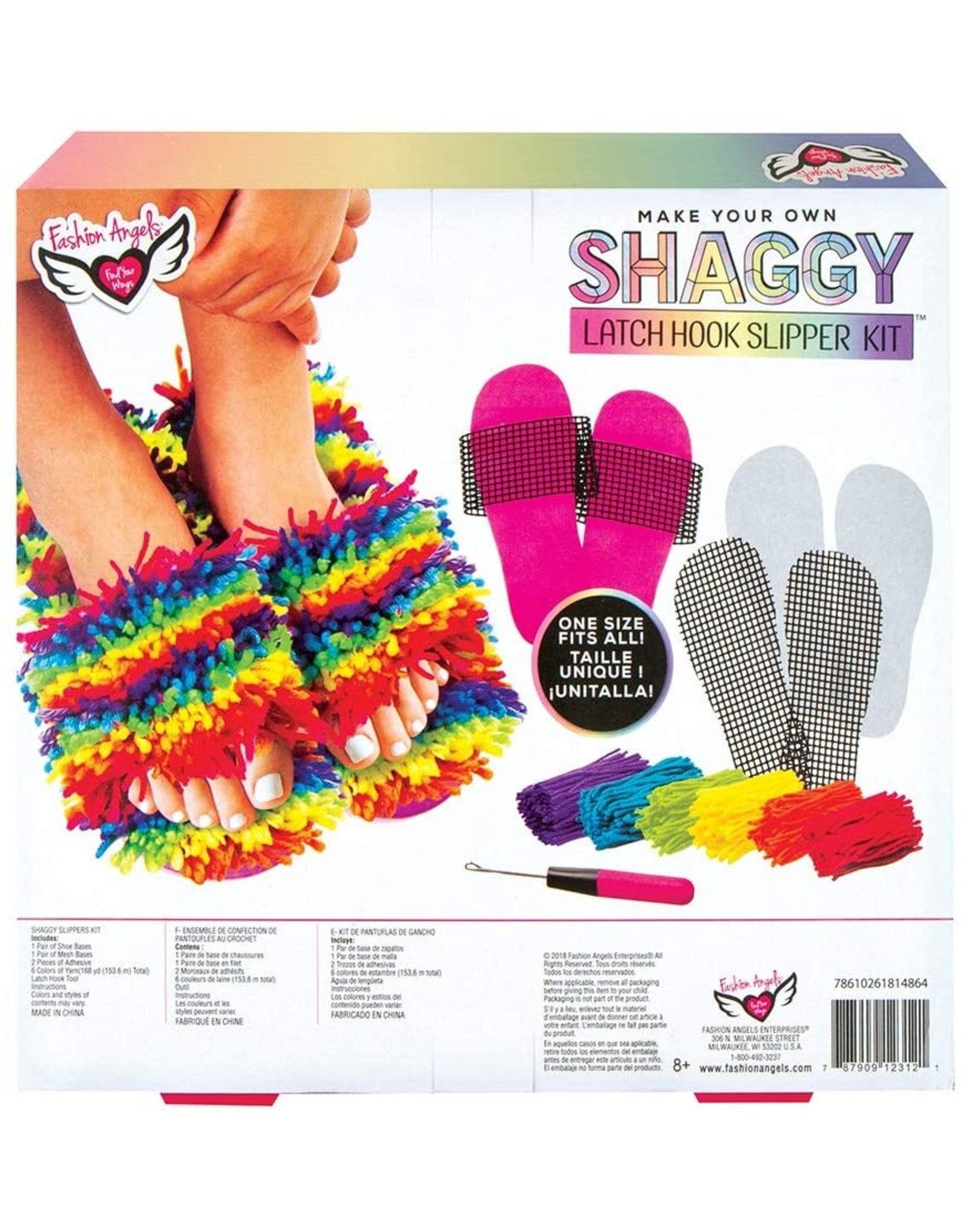 Latch Hook Slipper Kit - (one size fits all)