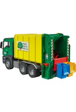 MAN TGS Rear Loading Garbage Truck green