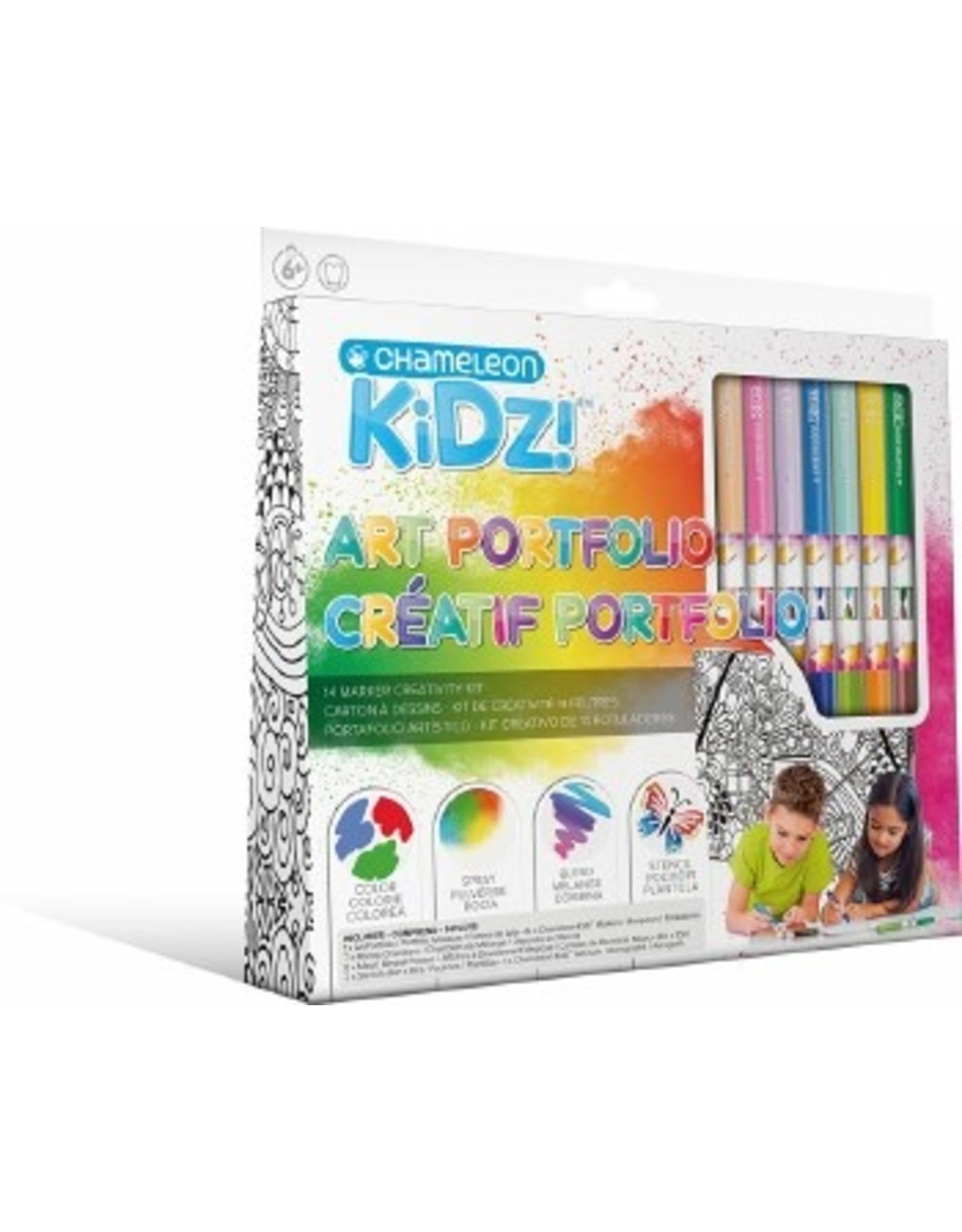 Chameleon Kidz!™ Art Portfolio 14 Marker Creativity Kit