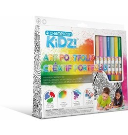Chameleon Kidz!™ Art Portfolio 14 Marker Creativity Kit
