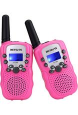 Retevis Walkie Talkies with Flashlight - Pink