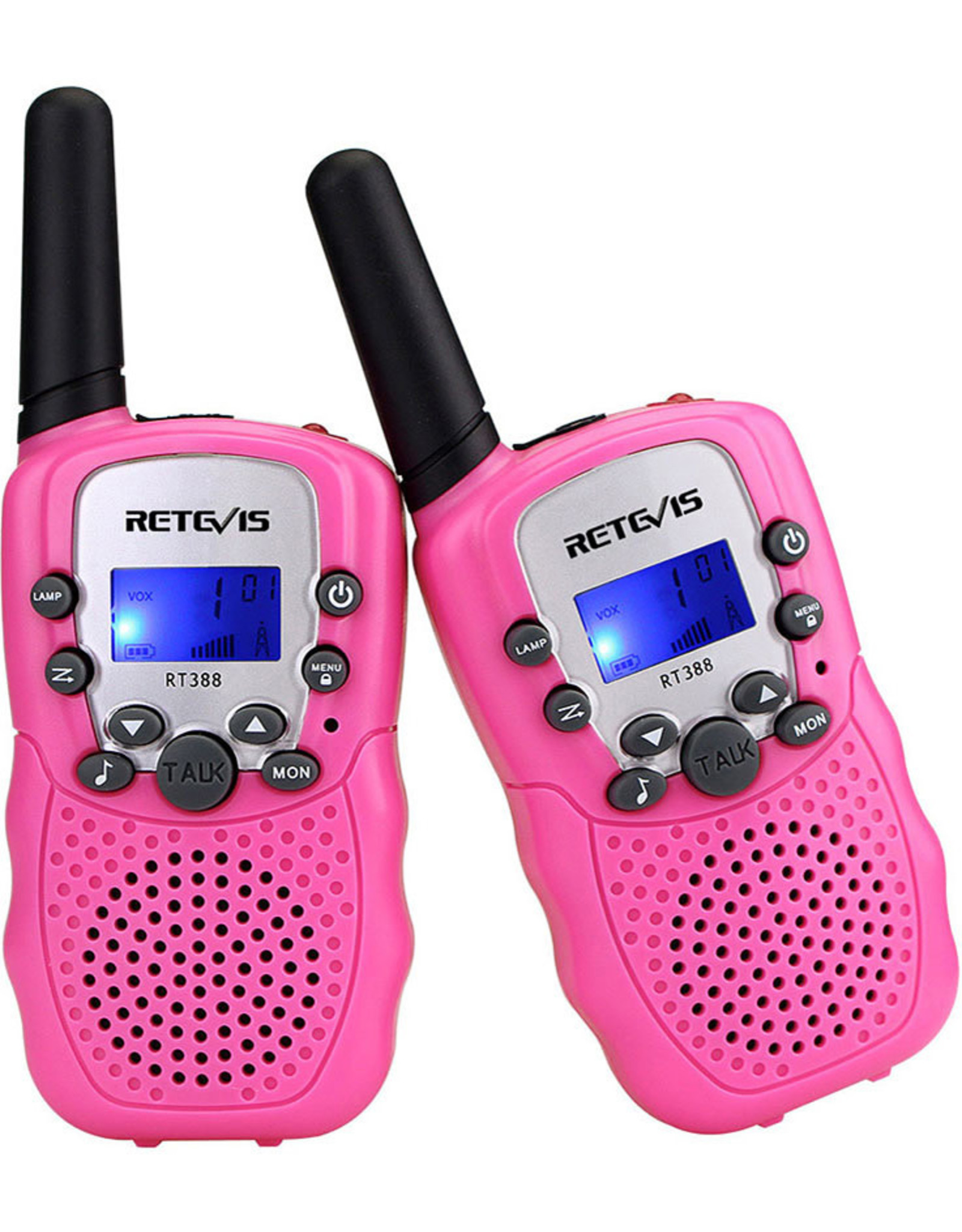Retevis Walkie Talkies with Flashlight - Pink