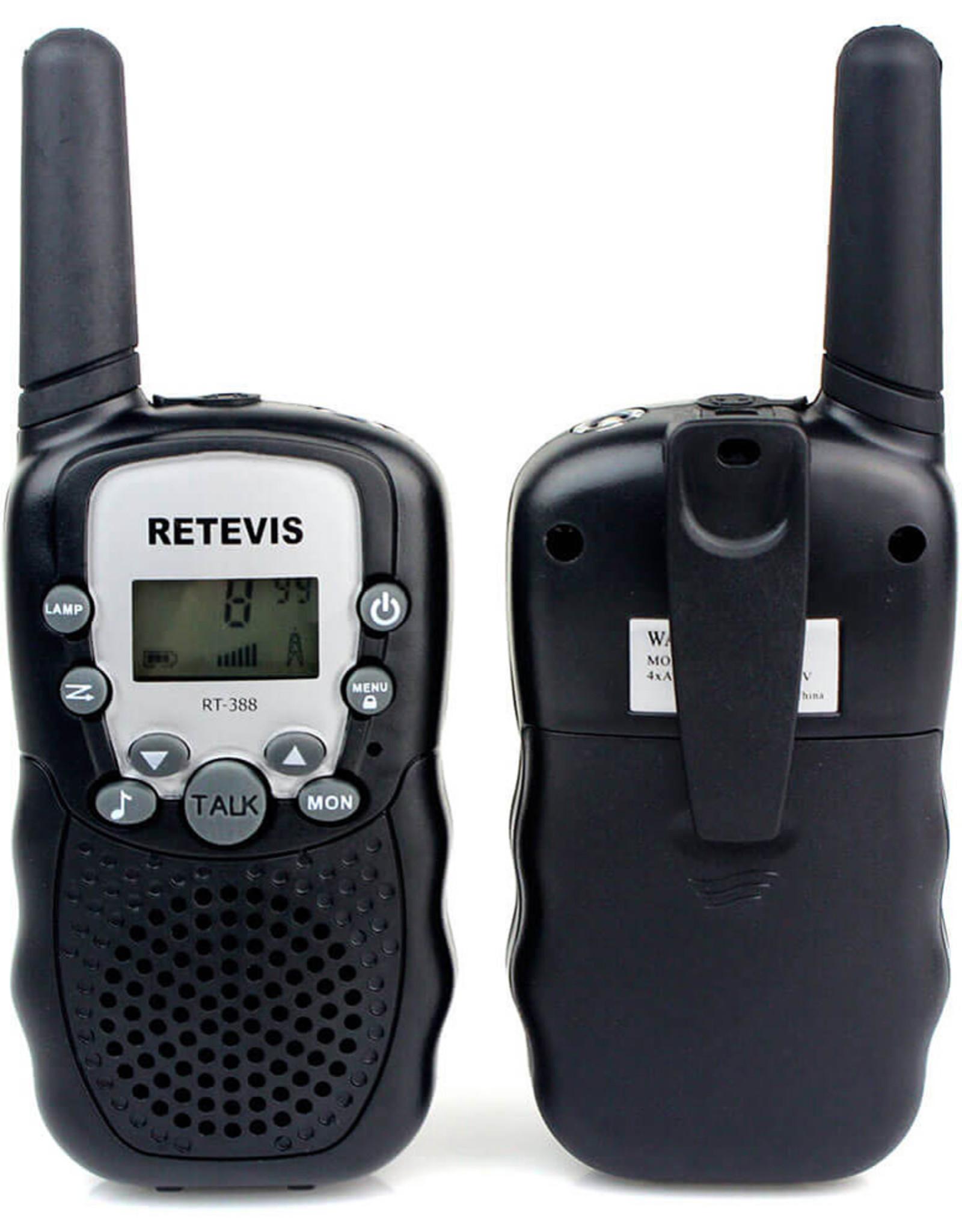 Retevis Walkie Talkies with Flashlight - Black