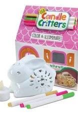 Bright Stripes LED Candle Critter - Bunny