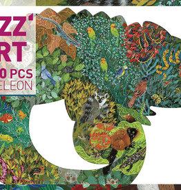 Chameleon  Puzz'Art Shaped Jigsaw Puzzle