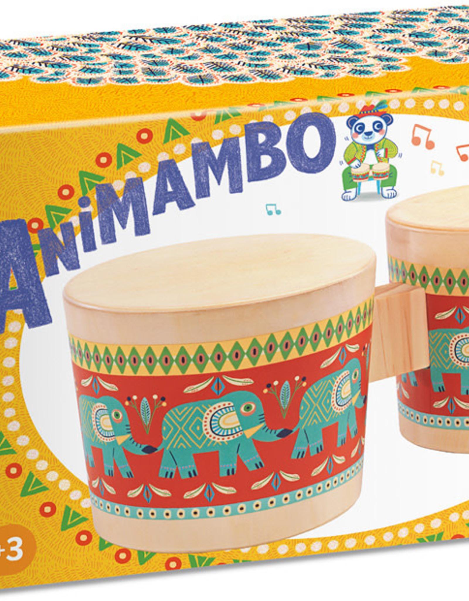 Animambo Bongo Drums Musical Instrument