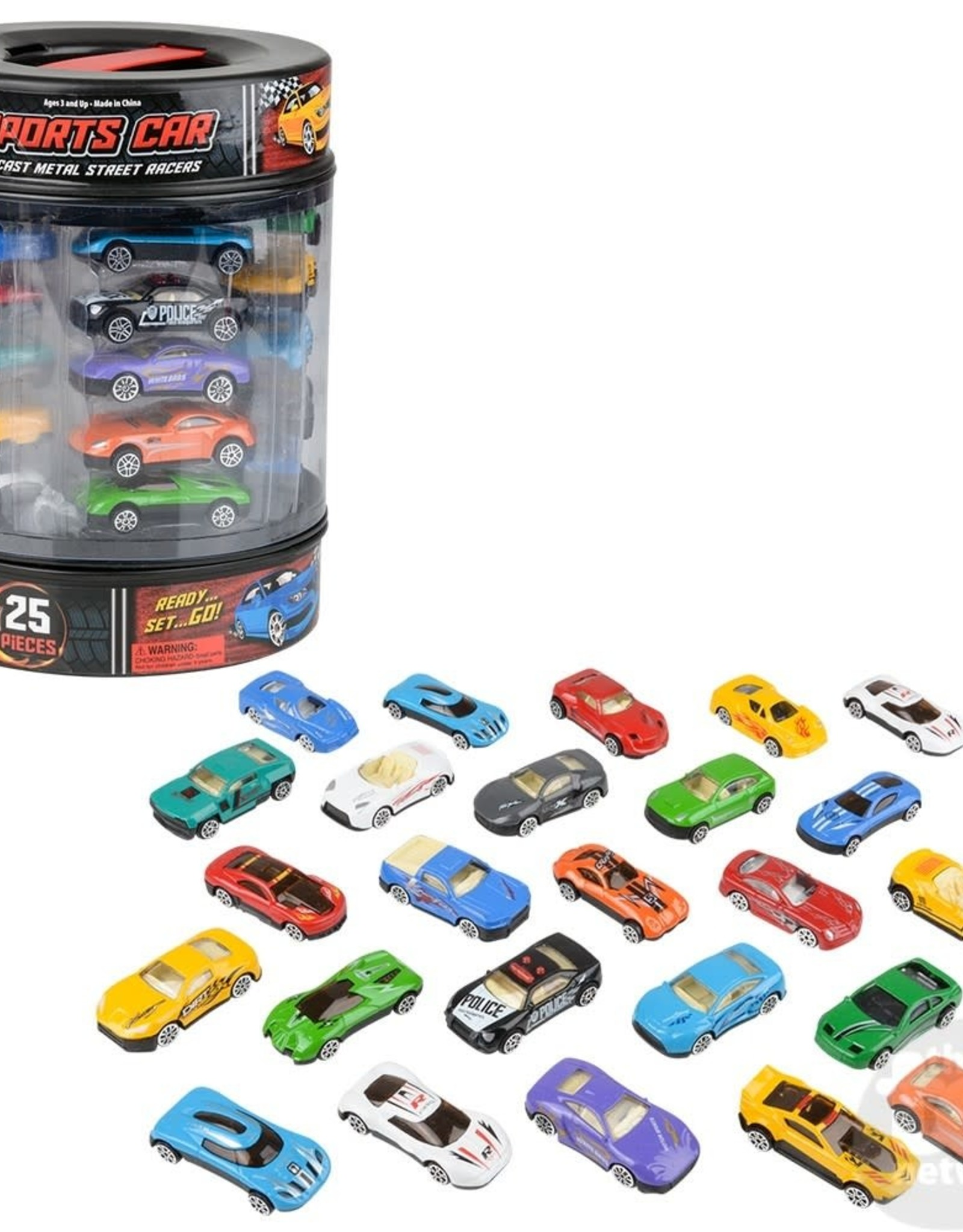 Die-Cast Car Set In Tire Carrying Tub - 25 pc
