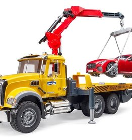 Bruder® MACK Granite Tow Truck with Bruder Roadster