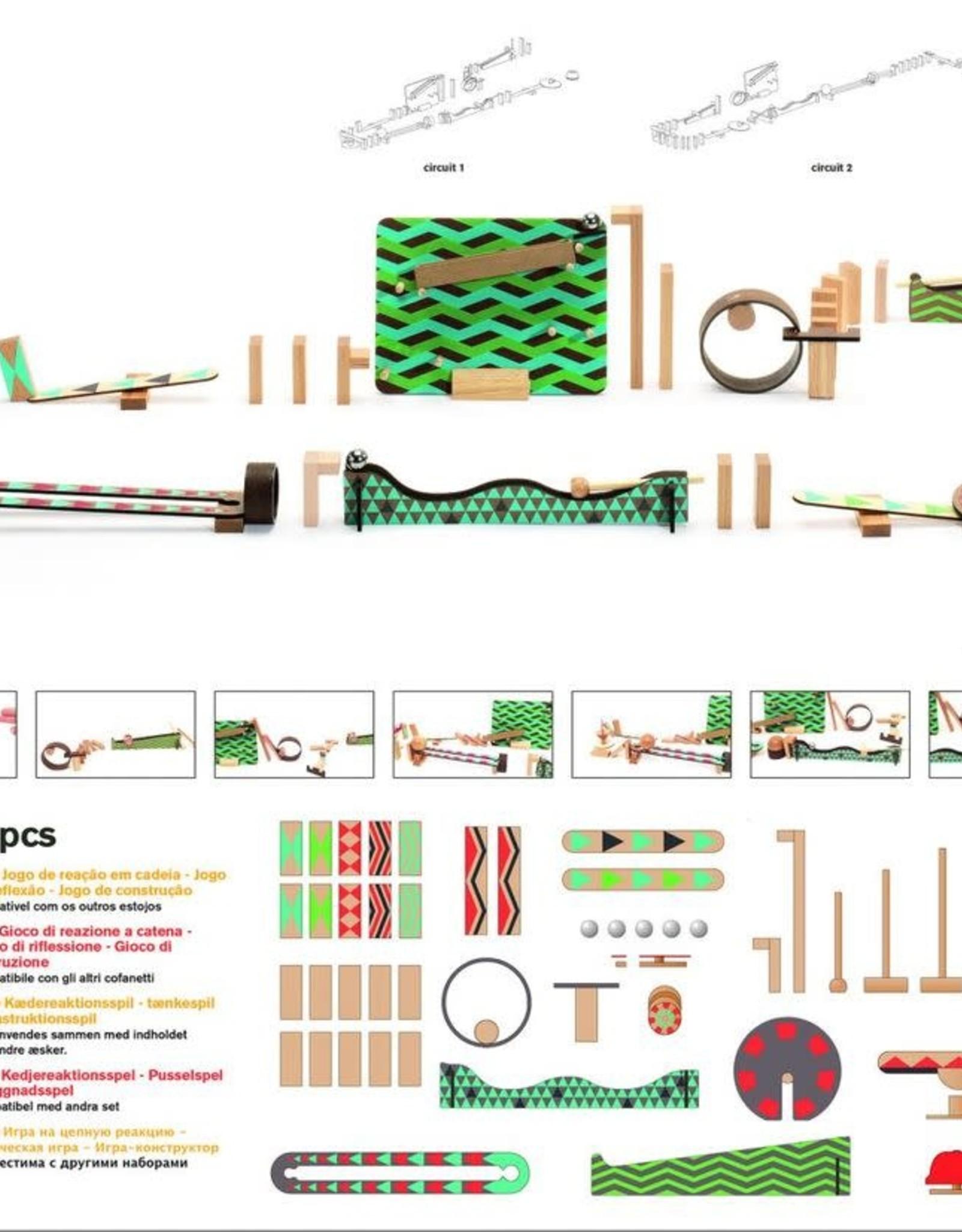 Zig & Go  48 pc Chain Reaction Construction Set