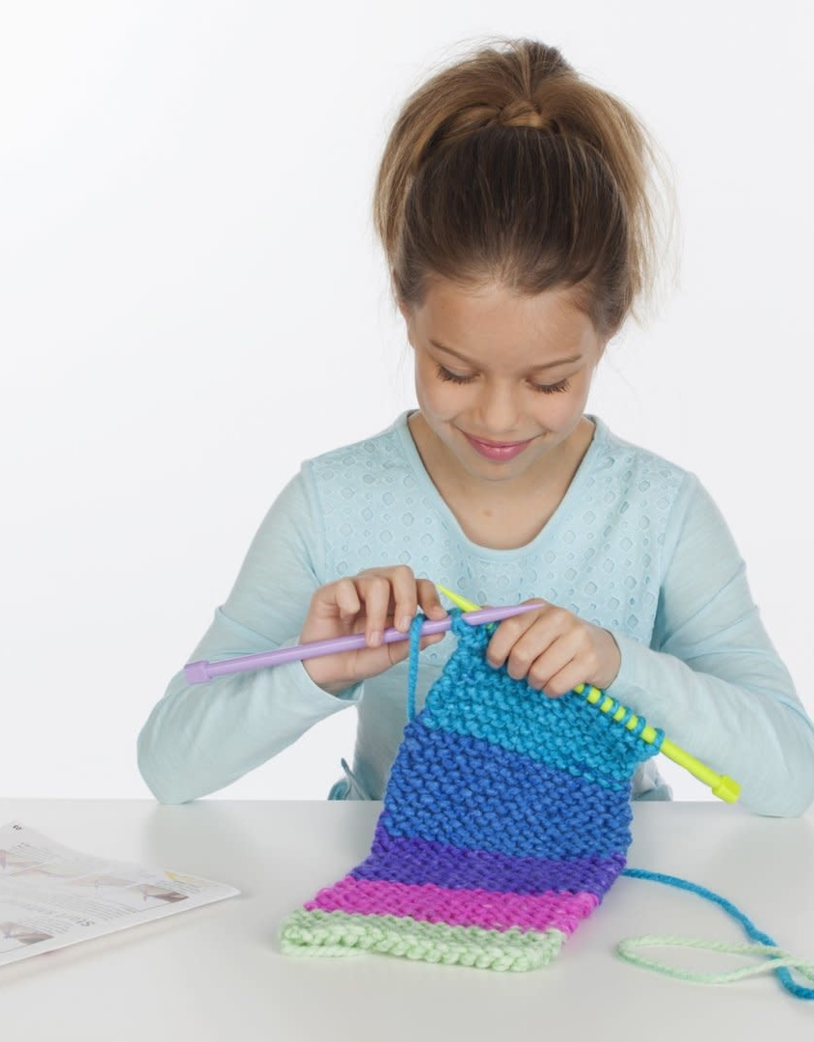 Learn to Knit Pocket Scarf