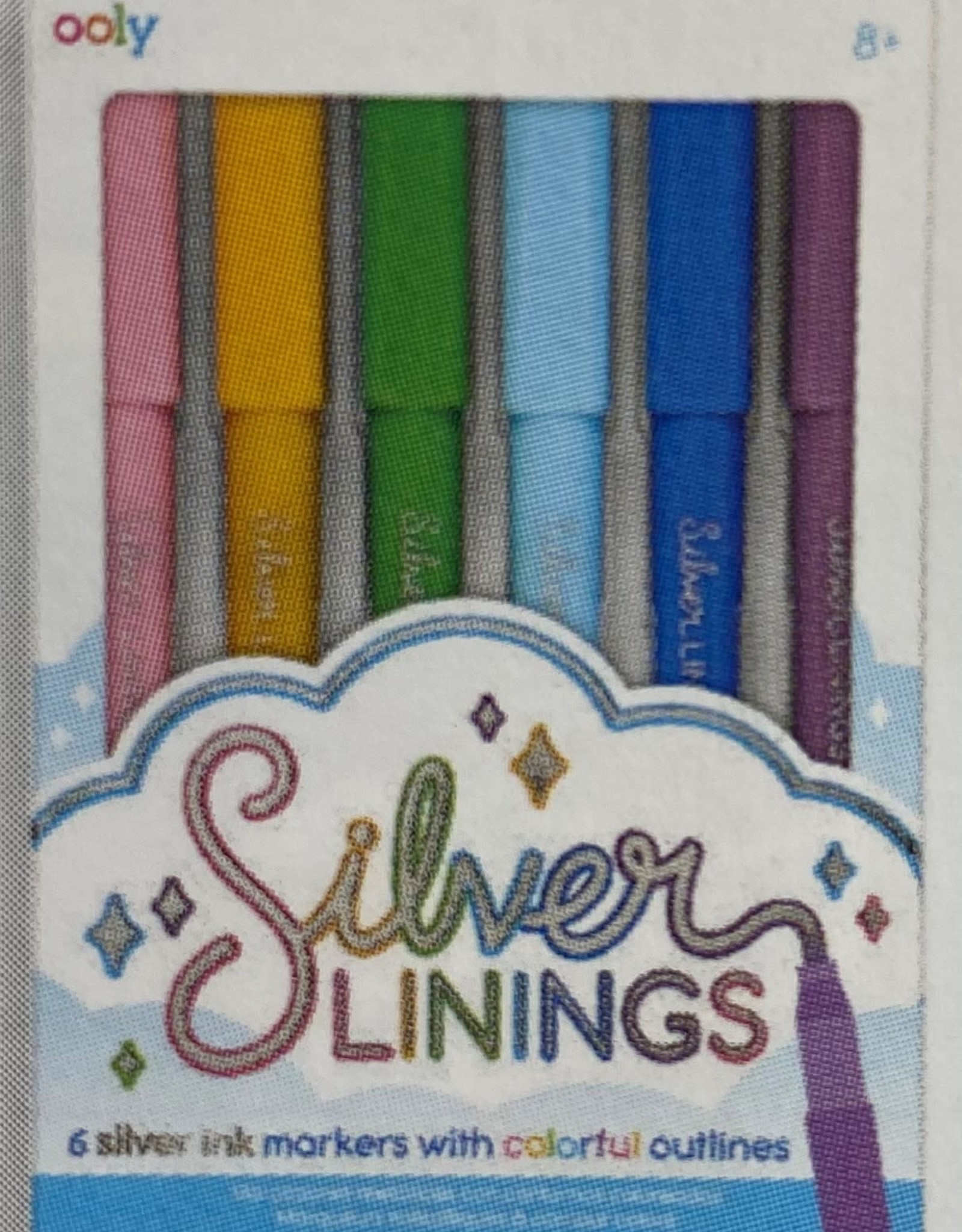 Silver Linings - Silver Ink Markers with Outlines - Set of 6