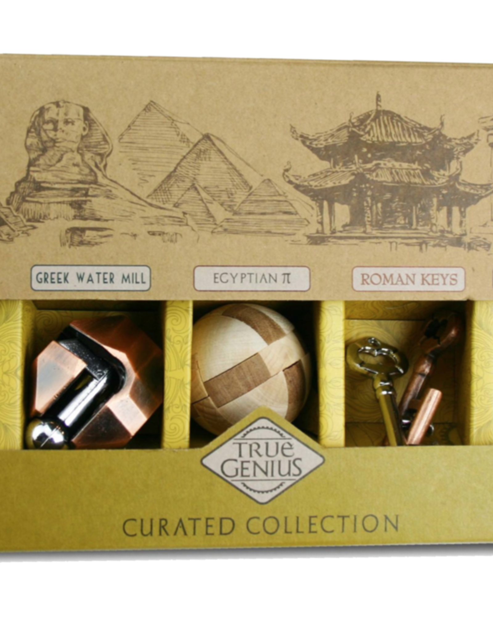 True Genius Wooden Brainteaser Puzzles: Curated Collection