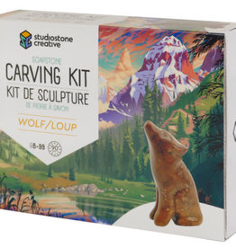 Soapstone Carving Kit - Wolf