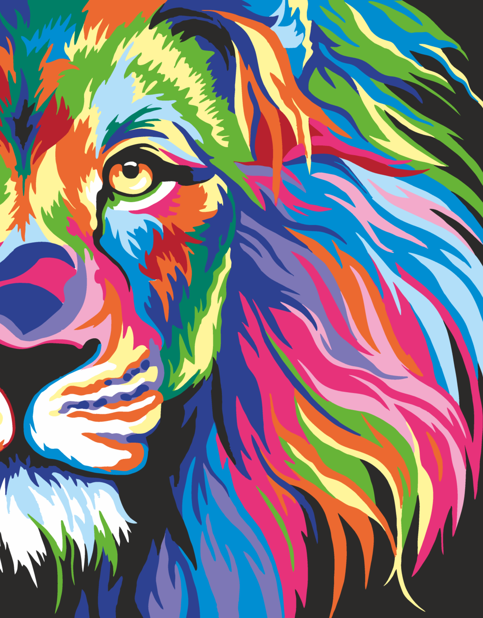 Artwille™ Paint By Number Neon Lion
