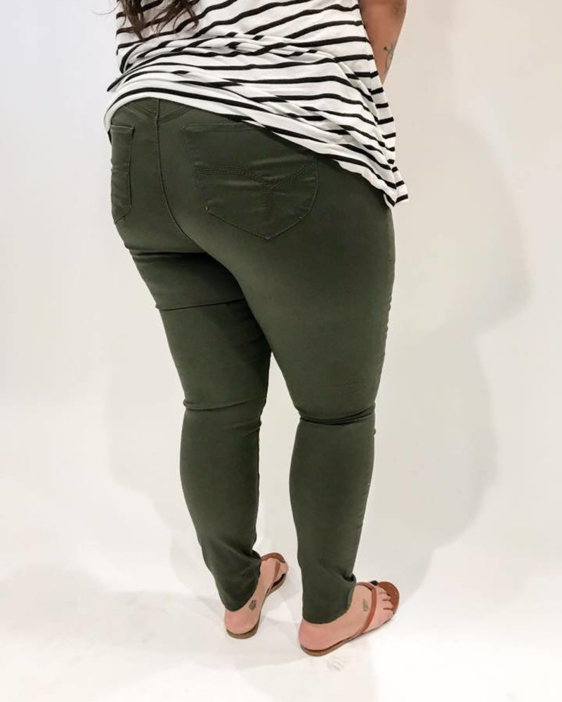 YMI Olive Twill Skinny