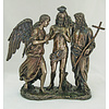 Baptism of Christ, Cold-Cast Bronze Veronese, 10 3/4""