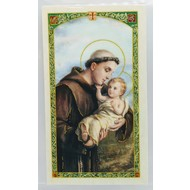 St. Anthony of Padua Laminated Holy Card Made in Italy