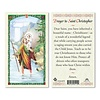 Prayer to Saint Christopher, Laminated Prayer Card