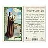 Prayer to St. Clare Laminated Prayer Card