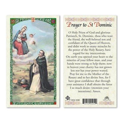 Prayer to Saint Dominic, Laminated Prayer Card