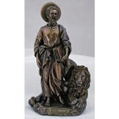 St. Mark with Lion Veronese Cold Cast Bronze