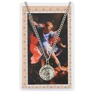 St. Michael the Archangel Medal and Laminated Holy Card