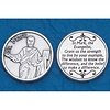 Silver Plated High Relief Coin, Saint Mark