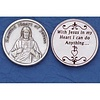 Sliver Plated High Relief Coin, Sacred Heart